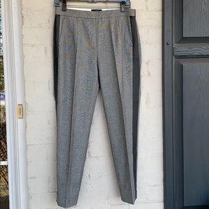 J. Crew Martie tux stripe Glen plaid cropped pants